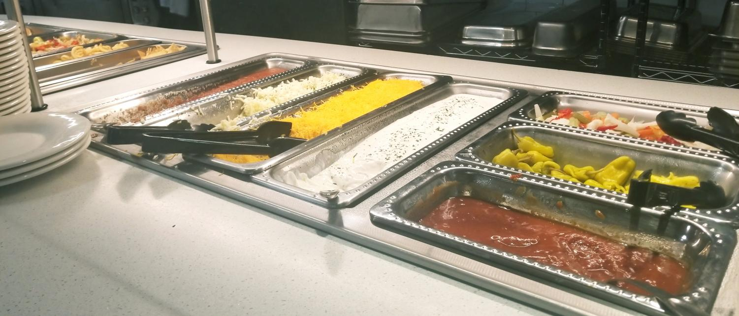 Taco Bar in the cafe as part of the new menu provided by Fresh Ideas dining