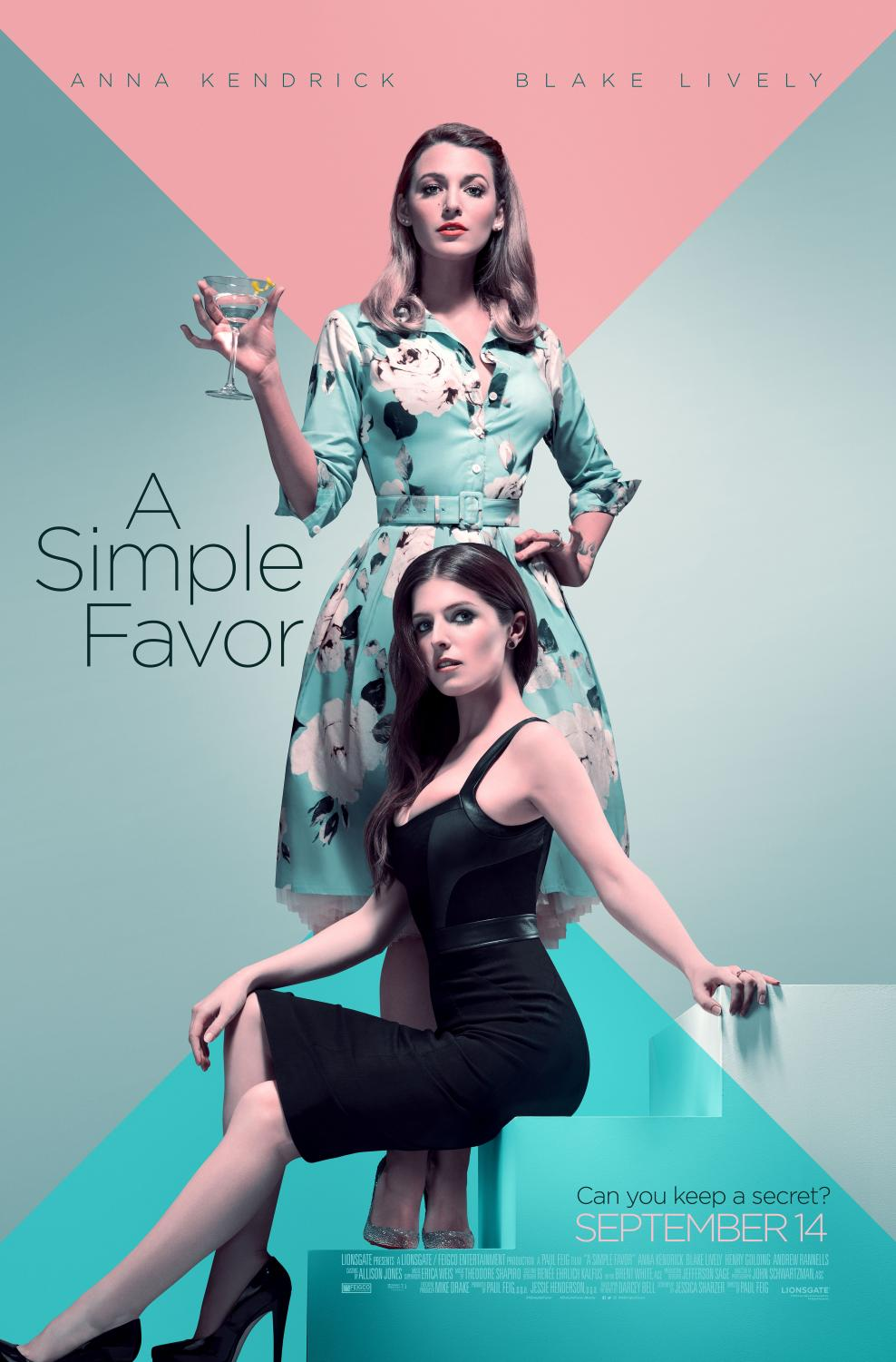A simple favor starring Blake Lively and Anna Kendrick