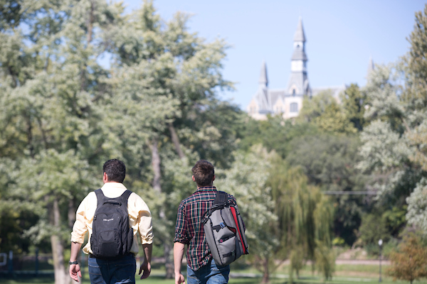Students at Park University campus