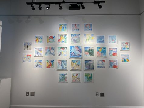 Sadie Johnson has 31 watercolor illustrations on display in Campanella Gallery.
