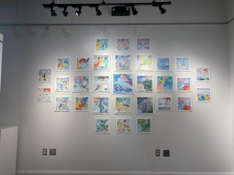 Sadie Johnson has 31 watercolor illustrations on display in Campanella Gallery.