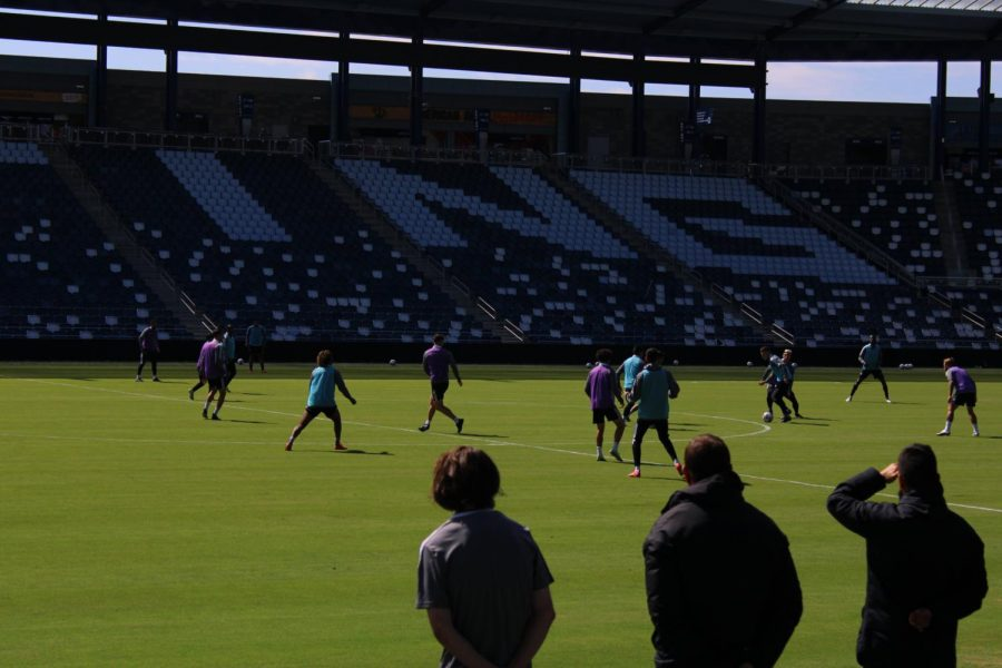 Sporting KC train at Children's Mercy Park ahead of their match against Orlando City.