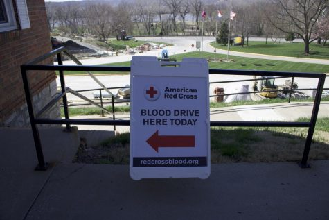 Blood drive sponsored by the pre-health professions club